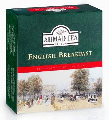 Ahmad Tea English Breakfast porcovaný čaj 100 x 2 g