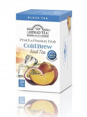Ahmad Tea Cold Brew peach and passion fruit porcovaný čaj 20 x 2 g