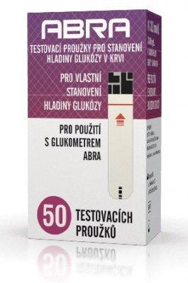 ABRA testovací proužky na stanovení hladiny glukózy v krvi 50 ks