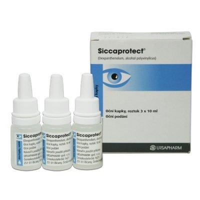 Siccaprotect oční kapky 3x10 ml