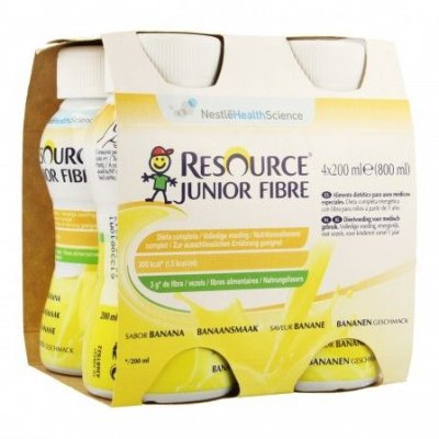 RESOURCE® Junior Fibre banánový 4x200 ml