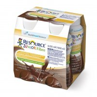 RESOURCE® Junior Fibre kakaový 4x200 ml