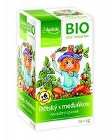 Apotheke BIO Dětský ovocný čaj s meduňkou nálevové sáčky 20x 2 g