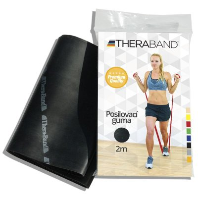 Thera-Band Posilovací guma 2 m 1 ks černá - speciálně silná
