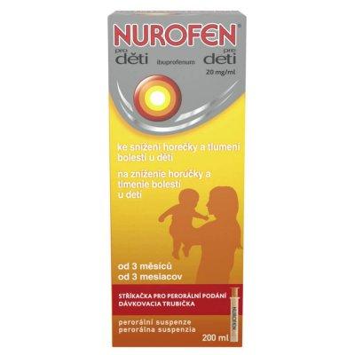 Nurofen pro děti 20 mg/ml suspenze 200 ml