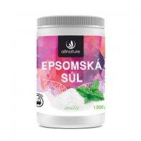 Allnature Epsomská sůl Máta 1000 g