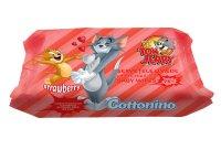 Cottonino Dětské vlhčené ubrousky Tom&Jerry jahoda 72 ks