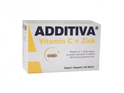 Additiva Vitamin C + zinek 60 kapslí