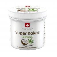 SwissMedicus Super Kokos a konopí pleťový olej 150 ml