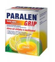 Paralen Grip Horký nápoj citron 12 sáčků