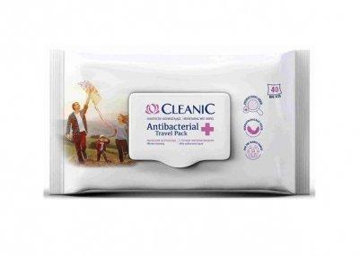 Cleanic Antibakteriální vlhčené ubrousky 40 ks