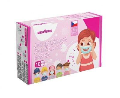 Mesaverde Dětská obličejová maska pro holky 10 ks