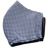 Rouška textilní 3-vrstvá modrá vzor vel.S 1ks