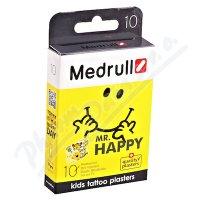 Náplast Medrull dětská KIDS tetovací Mr.Happy 10ks