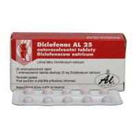 DICLOFENAC AL 25 25MG enterosolventní tableta 20