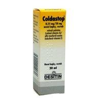 COLDASTOP 8,25MG/20MG nosní podání GTT SOL 1X20ML