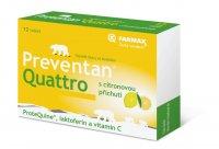 Preventan Quattro s citronovou příchutí tbl.12