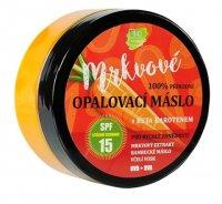 Vivaco 100% přírodní mrkvové opalovací máslo SPF15 s beta karotenem 150 ml