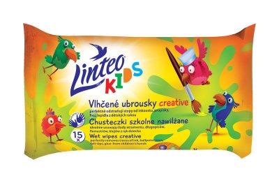 Vlhčené ubrousky LINTEO KIDS creative 15 ks