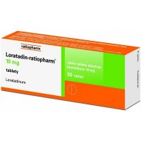 LORATADIN RATIOPHARM 10MG neobalené tablety 30