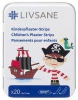 LIVSANE náplast dětská Pirát plech 20ks
