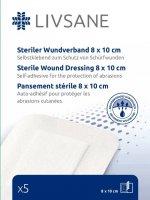 LIVSANE náplast sterilní na oděrky 8x10cm 5ks - II. jakost