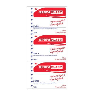 3M Spofaplast 166N Strips 76x51mm 3ks