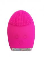 Palsar7 Kulatý elektrický masážní kartáček na čištění pleti, tmavě růžový