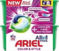 Ariel gelové kapsle All in 1 Color Complete Fiber Protection 48ks