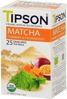 TIPSON BIO Matcha Turmeric & Passion Fruit přebal 25x1,5g
