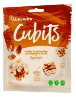 Almendro Cubits mandlové kostky se slaným karamelem 25g