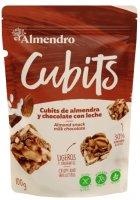Almendro Cubits mandlové kostky s mléčnou čokoládou 100g