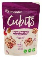 Almendro Cubits mandlové kostky s bílou čokoládou a malinami 100g
