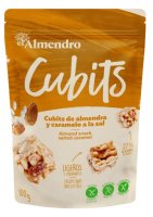 Almendro Cubits mandlové kostky se slaným karamelem 100g
