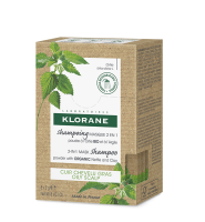 Klorane Šampon/Maska 2v1 BIO kopřiva a jíl 8x3g
