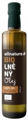 Allnature BIO Lněný olej 250ml