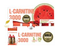 GoldNutrition L-Carnitine 3000mg vodní meloun 20 ampulí