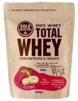 GoldNutrition Total Whey jahoda-banán 260g