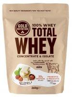 GoldNutrition Total Whey bílá čokoláda-lískový ořech 260g