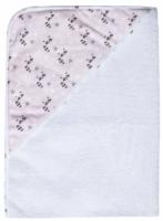 Bambino Mio Dětská froté osuška s kapucí LUMA - Racoon Pink