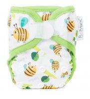 Bobánek Látková plenka novorozenecké svrchní kalhotky, suchý zip - Včelky 1ks