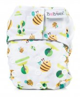 Bobánek Látková plenka novorozenecká AIO, suchý zip - Včelky 1ks