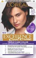 L'Oréal Paris Excellence Cool Creme 5.11 Ultra popelavá světlá hnědá Permanentní barva 1ks