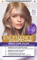 L'Oréal Paris Excellence Cool Creme 8.11 Ultra popelavá světlá blond Permanentní barva 1ks
