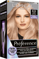 L'Oréal Paris Préférence 8.12 Alaska Studená světlá blond permanentní barva 1ks