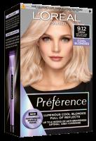 L'Oréal Paris Préférence 9.12 Siberia Studená velmi světlá blond permanentní barva 1ks