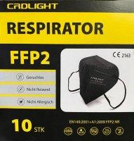 CRDLight Respirátor FFP2 černý 10ks