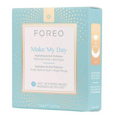 Foreo Make My Day UFO/UFO mini hydratační maska zabraňující znečištění pleti 7x6g