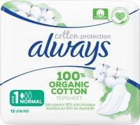 Always Vložky Organic Cotton Normal 12ks