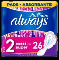 Always Platinum Super (Velikost 2) Hygienické Vložky S Křidélky 26ks